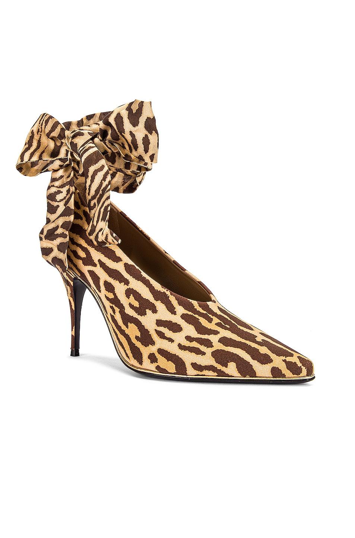 Image 2 of Zimmermann Ankle Tie Lycra Heel in Animal
