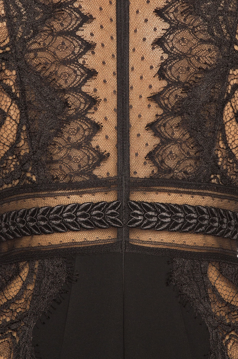 Image 4 of Zuhair Murad Lace Long Sleeve Jumpsuit in Black