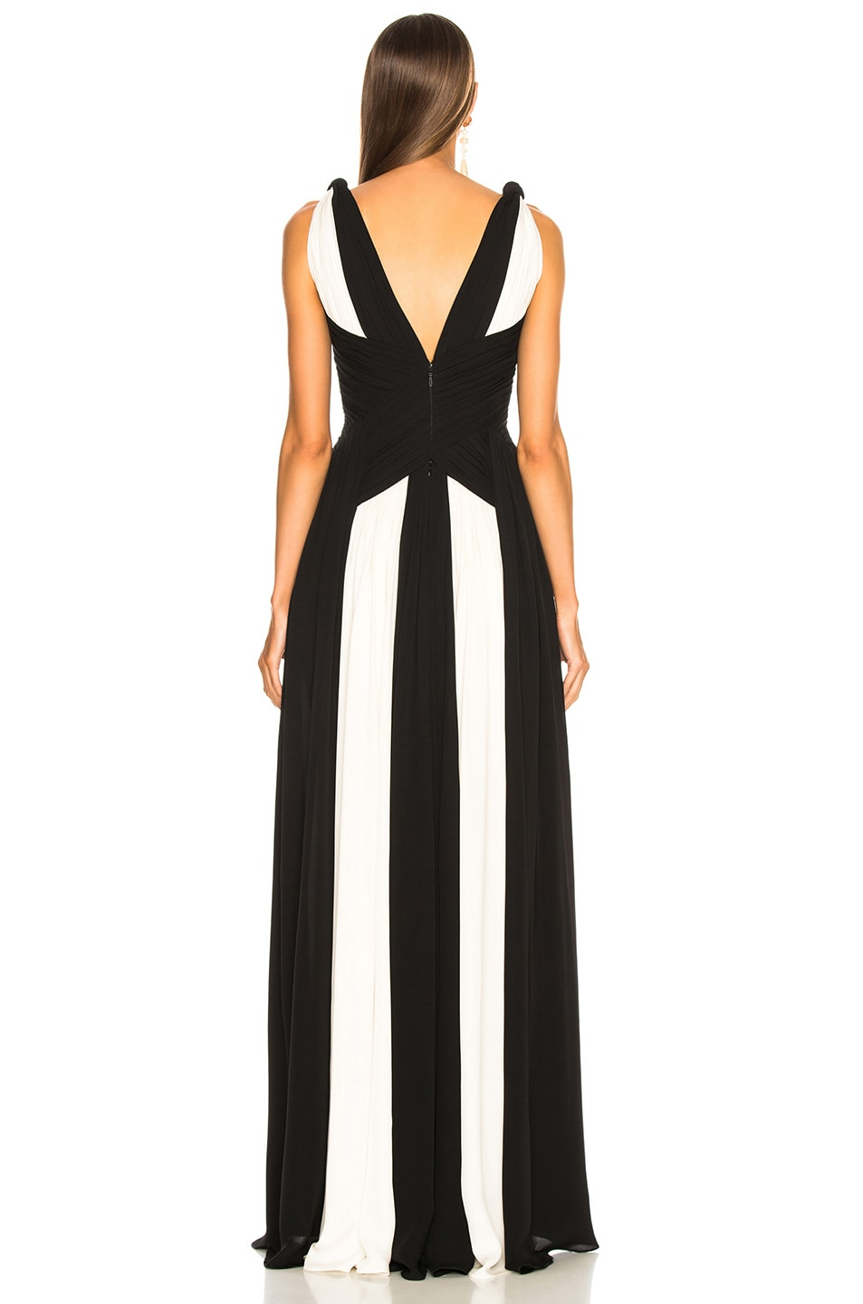 Image 4 of Zuhair Murad Draped Sleeveless Gown in Black & White