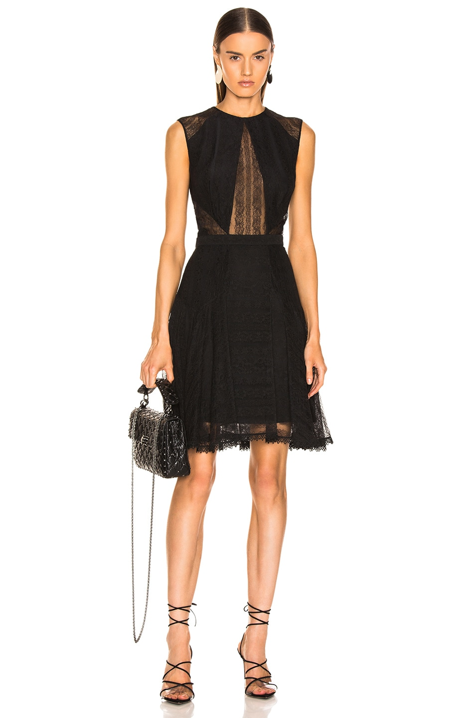 Image 1 of Zuhair Murad Seabean Lace Dress in Black