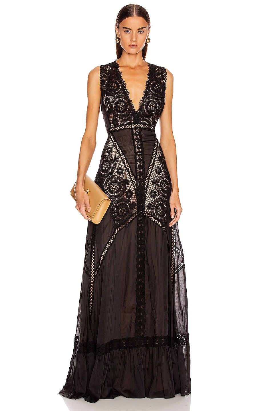 Image 1 of Zuhair Murad Island Long Dress in Black