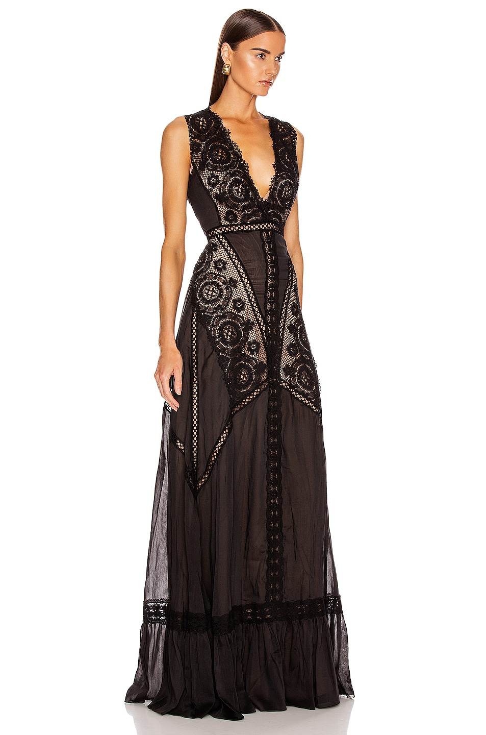 Image 2 of Zuhair Murad Island Long Dress in Black