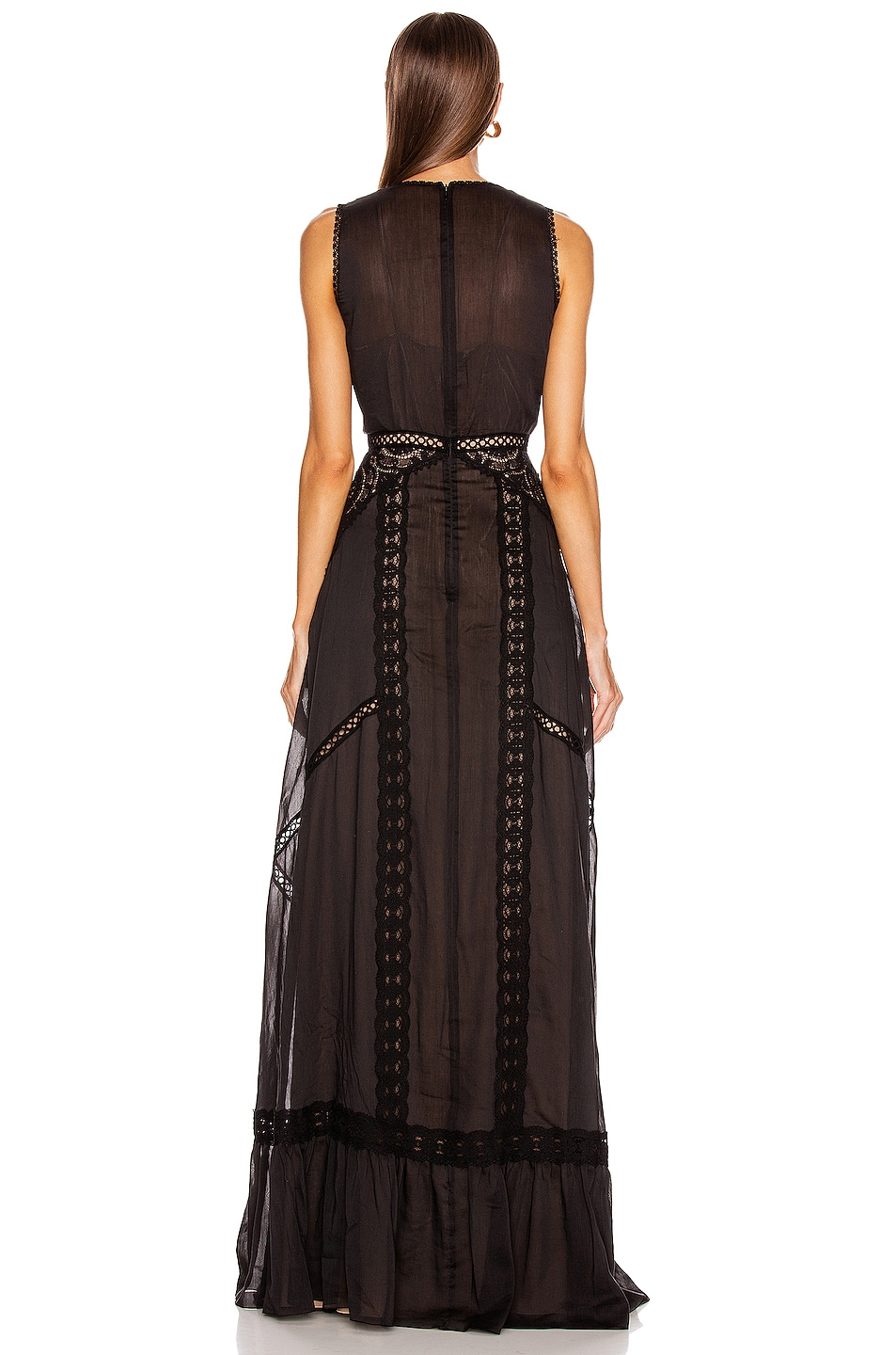 Image 3 of Zuhair Murad Island Long Dress in Black