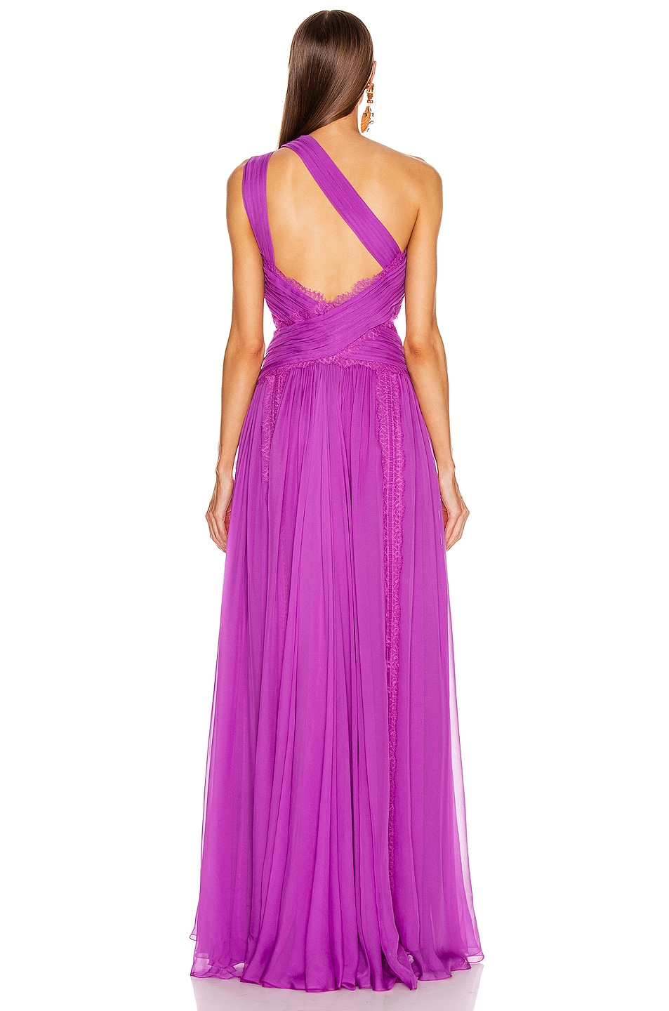Image 4 of Zuhair Murad Silk Chiffon Long Dress in Hyacinth Violet