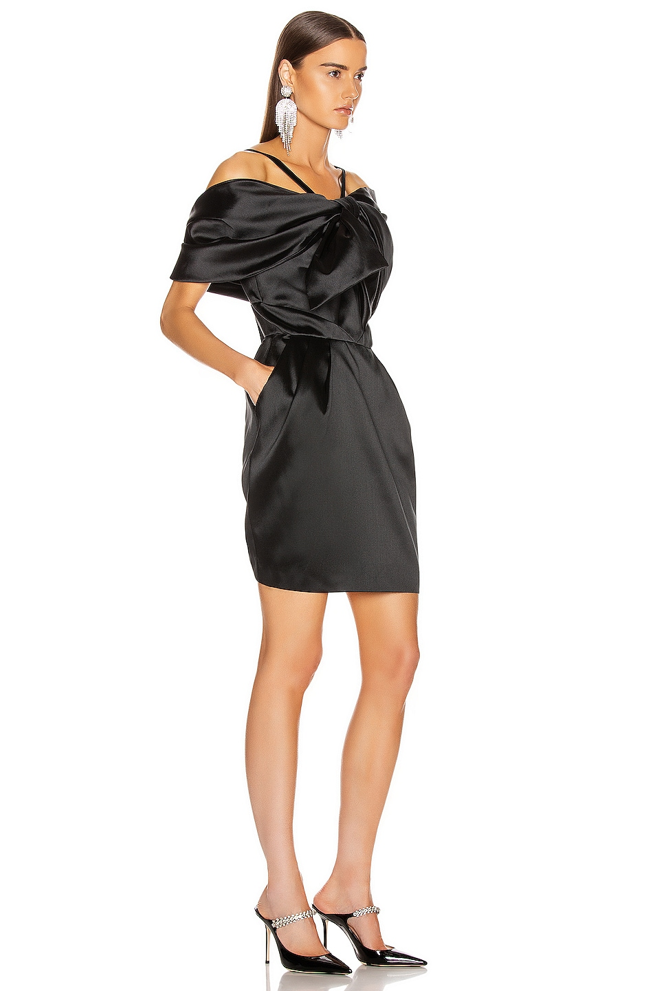 Image 2 of Zuhair Murad Bow Mini Dress in Black