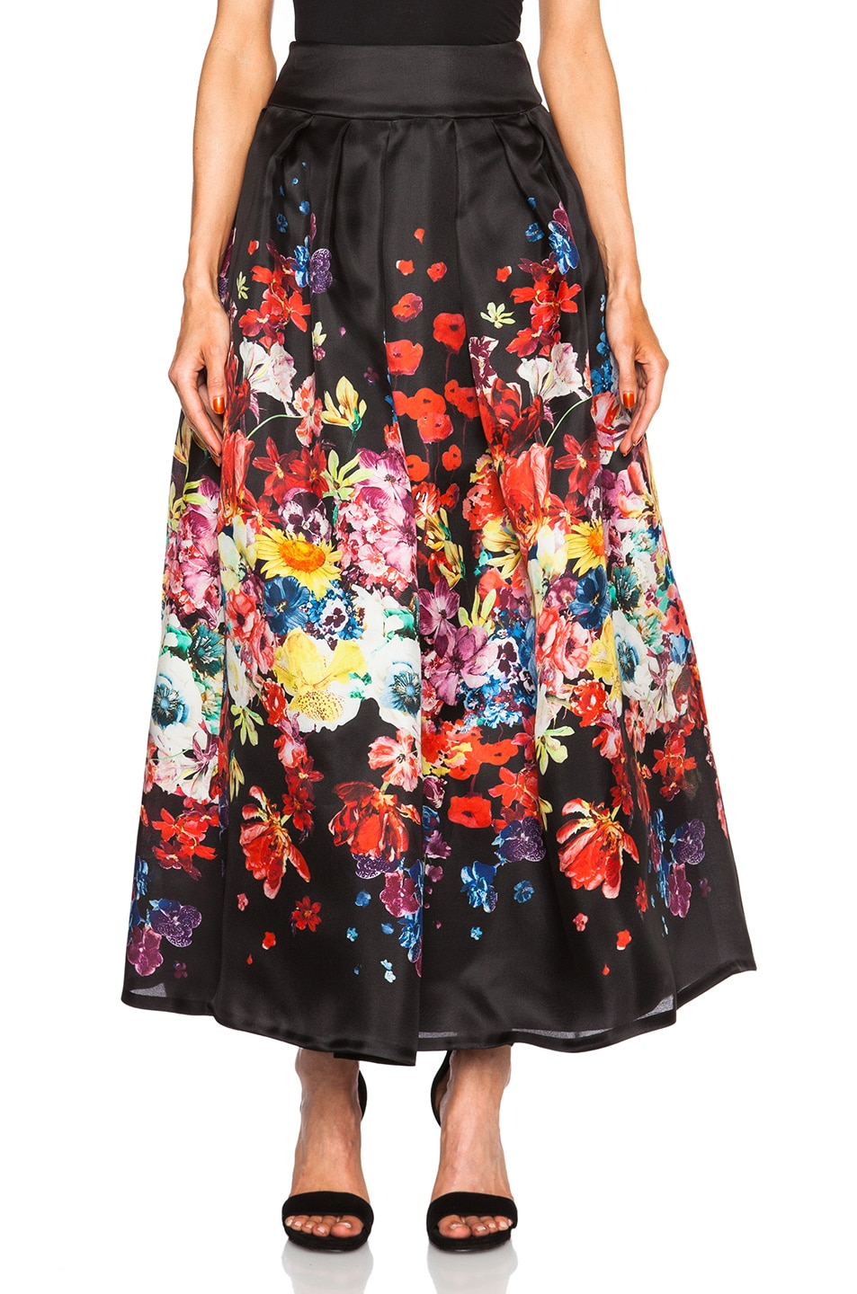 Image 1 of Zuhair Murad Floral Long Skirt in Organza