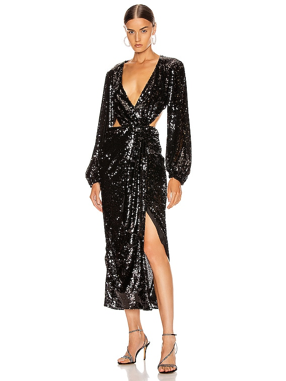 Electric Orchid Gown in Black