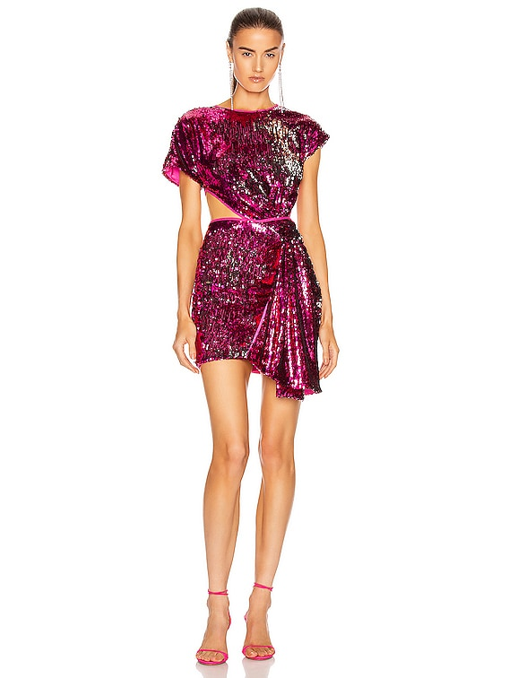 Electric Orchid Mini Knot Dress in Dahlia