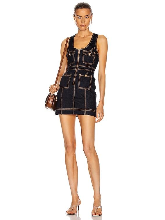 Club Noir Mini Dress in Indigo
