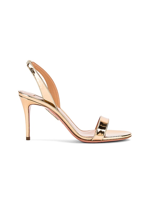 So Nude 85 Sandal in Soft Gold