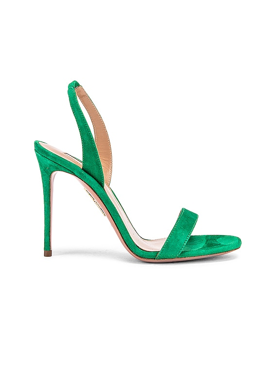 So Nude Suede 105 Sandal in Jungle Green