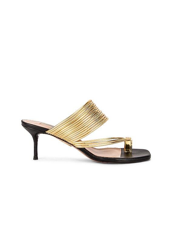 Sunny 60 Sandal in Black & Gold