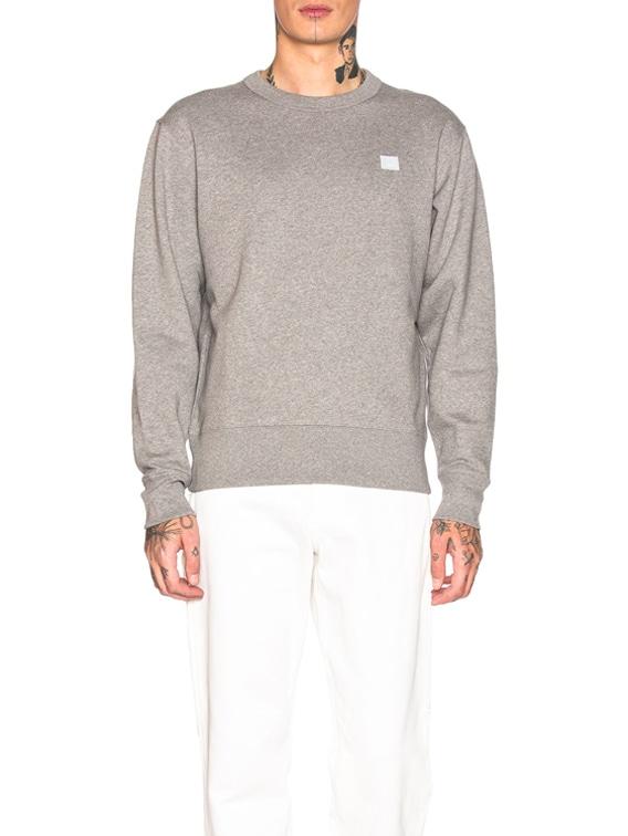 Sweatshirt in Light Grey Melange