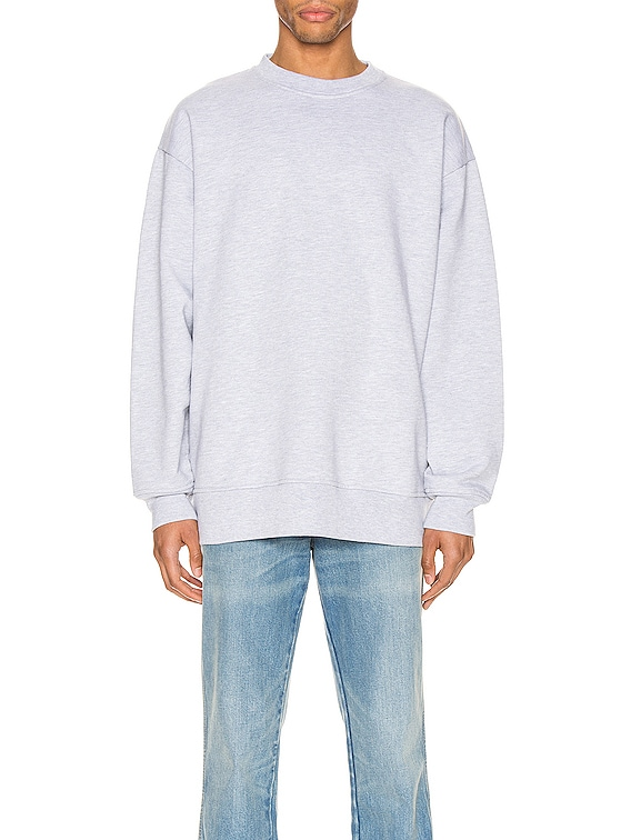 Pink Label Sweatshirt in Pale Grey Melange