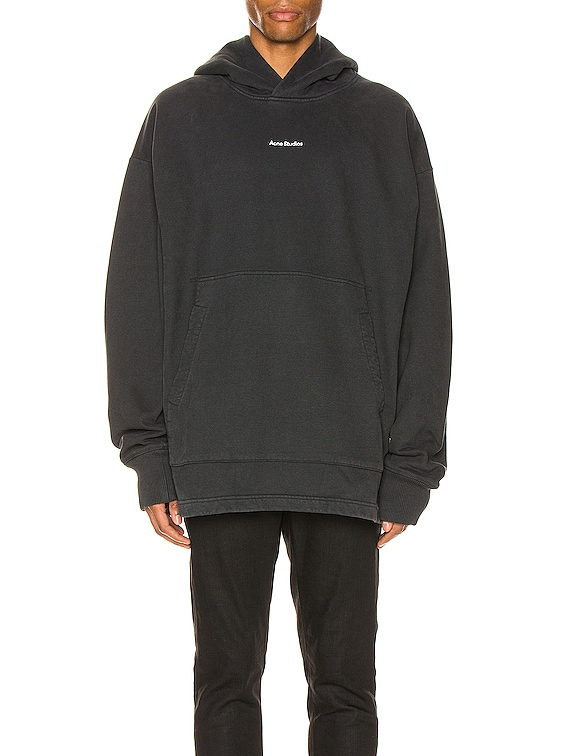 H Stamp Sweatshirt in Black