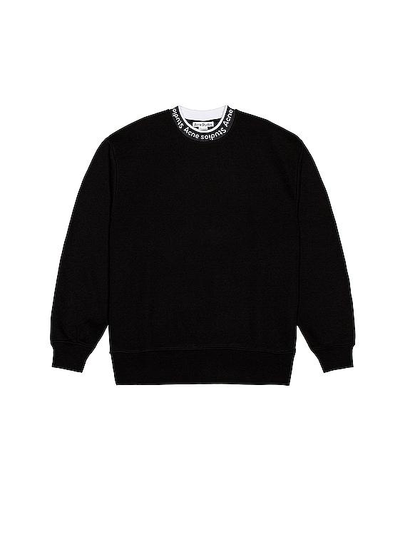 Logo Rib Sweatshirt in Black