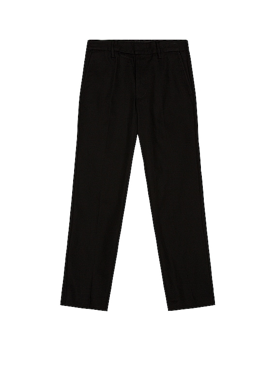 Cotton Twill Trousers in Black