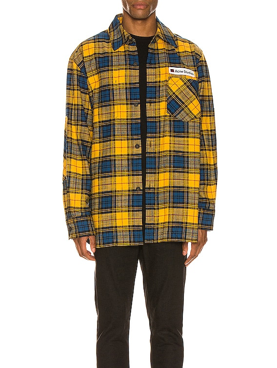 Flannel Overshirt in Yellow & Black