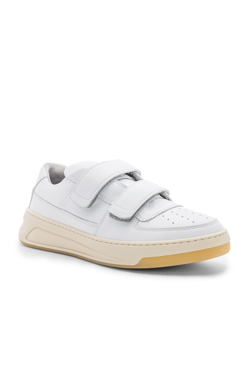 Leather Pete Sneakers in White