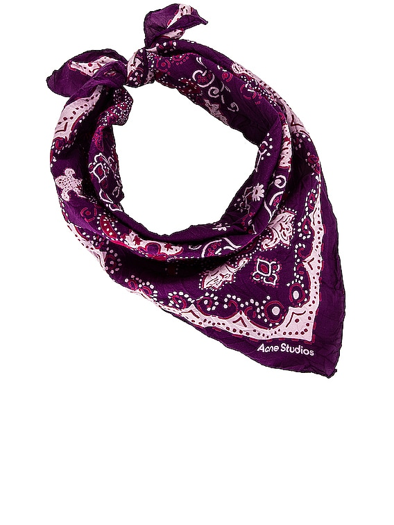 Printed Scarf in Purple & Pale Pink