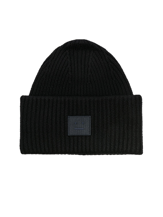 Pansy Face Beanie in Black