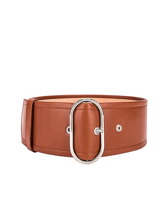 Large Belt in Cognac Brown