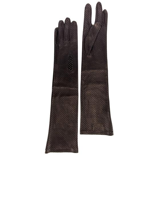Arlette Leather Gloves in Black