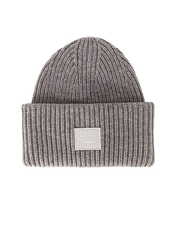 Pansy Face Beanie in Grey Melange