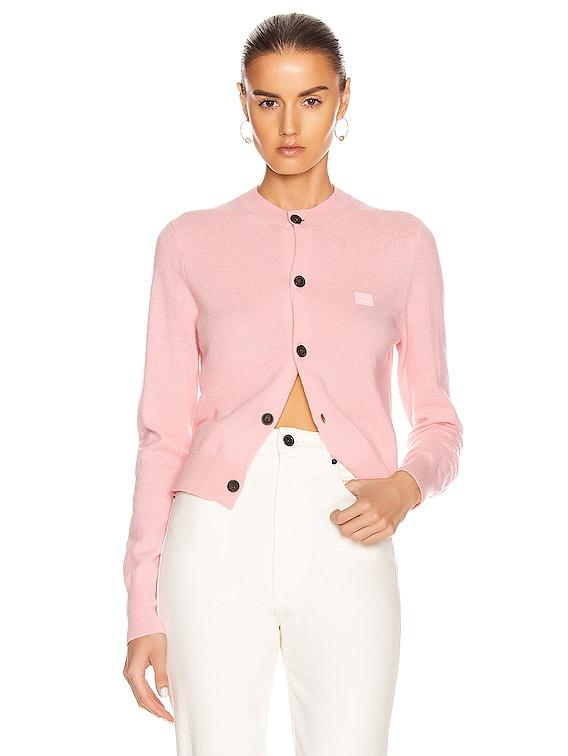 Face Cardigan in Blush Pink