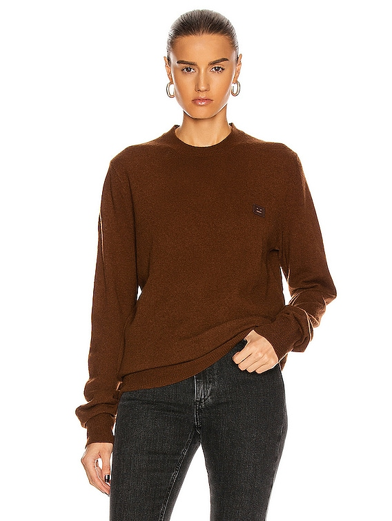 Kalon Face Sweater in Dark Brown