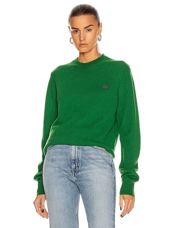 Kalon Face Sweater in Deep Green