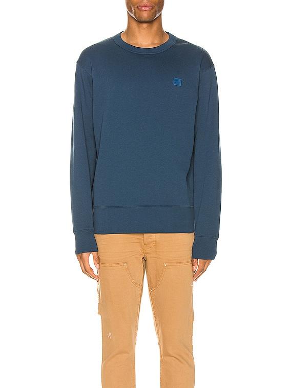 Fairview Face Sweatshirt in Midnight Blue