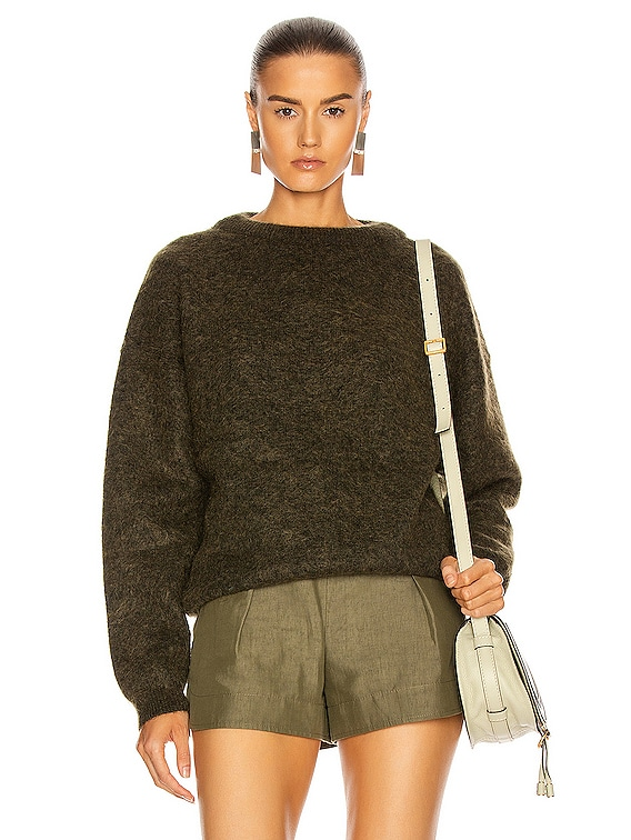 Dramatic Mohair Sweater in Olive Green