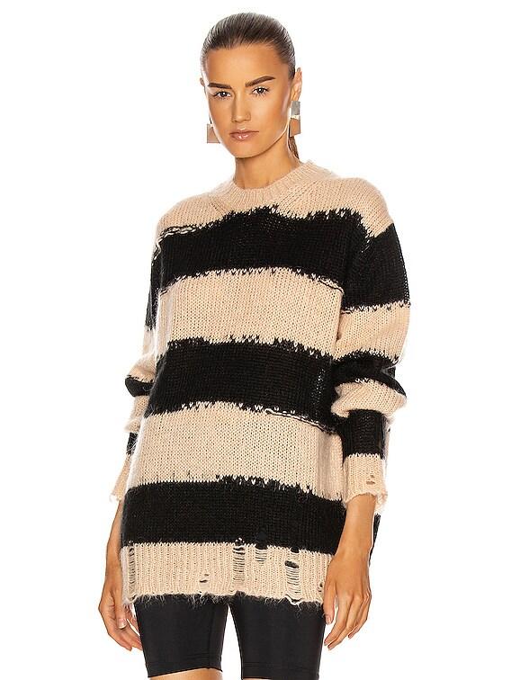 Kantonia Sweater in Black & Warm Beige