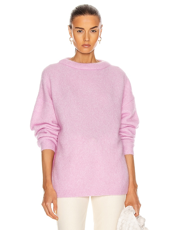 Dramatic Mohair Sweater in Bubblegum Pink