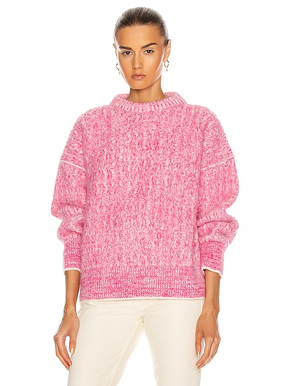 Kornelia Sweater in Pink & White