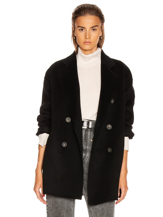 Odine Double Coat in Black