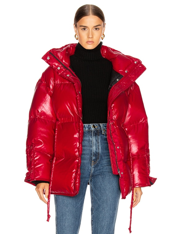 Ophira Down Jacket in Dark Red
