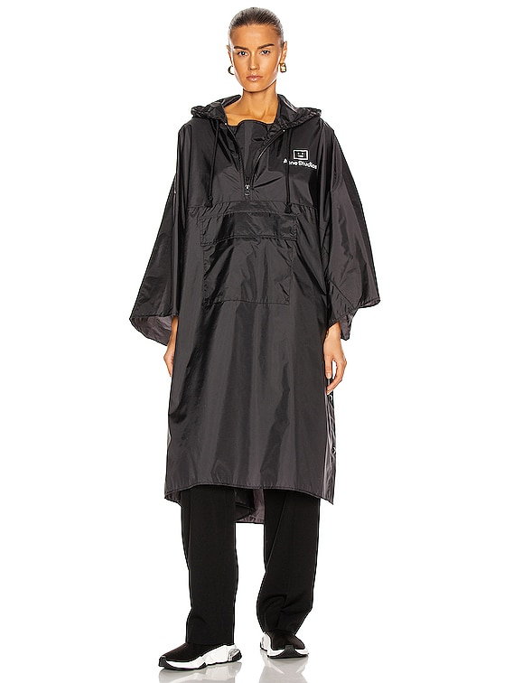 Outpost Face Poncho in Black