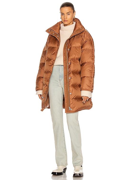 Orlee Puffer Jacket in Mink Brown