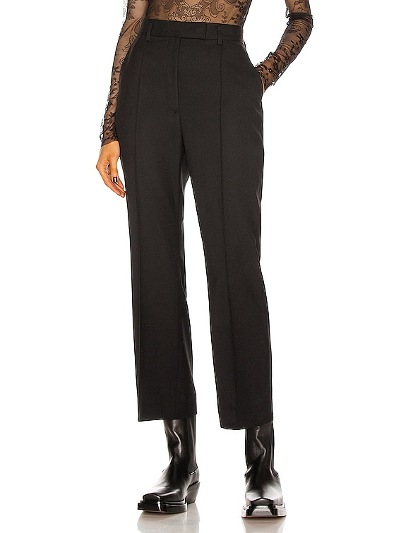 Cropped Tailored Pant in Black
