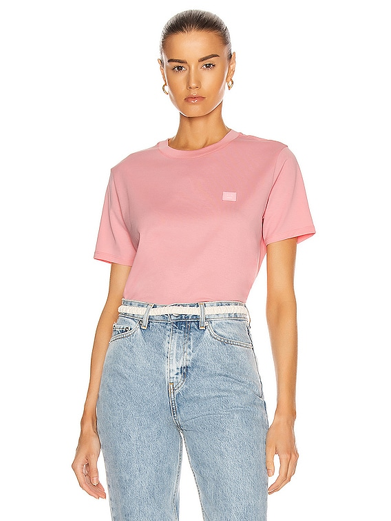Ellison Face T-Shirt in Blush Pink