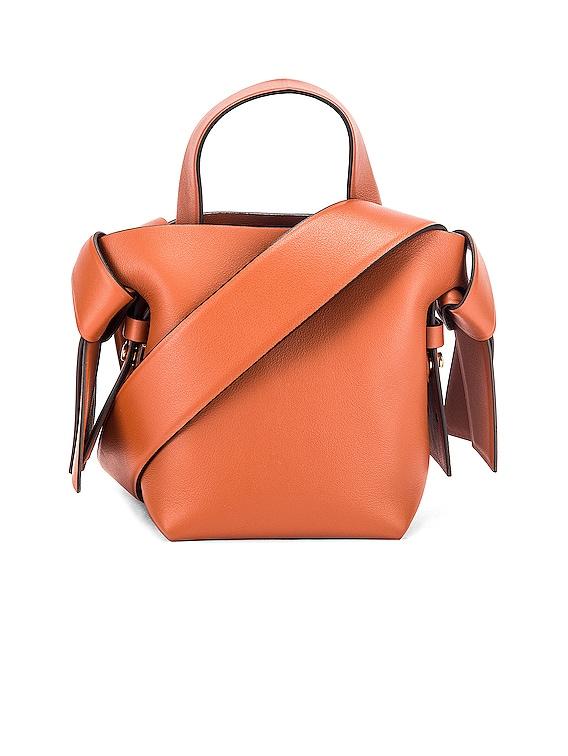 Micro Bucket Bag in Almond Brown