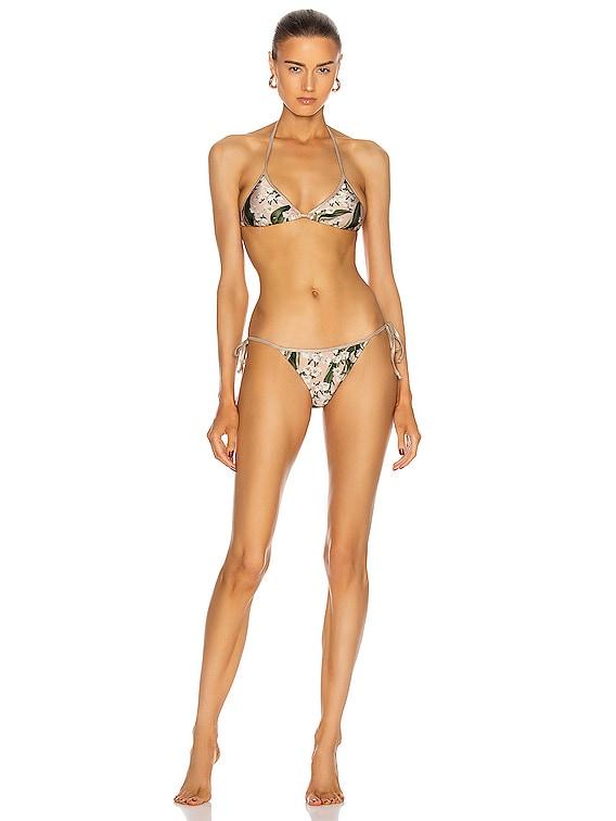 Muguet Triangle Bikini With Side Ties in Rose