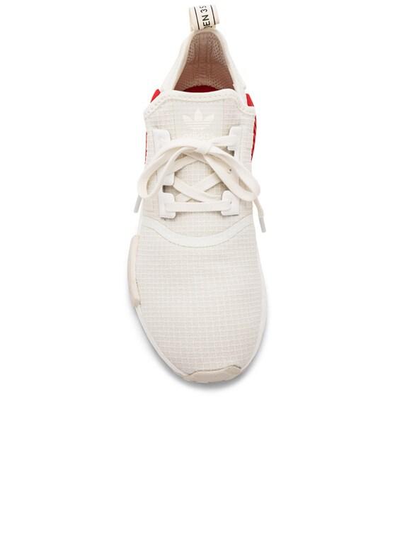 half off a8fff 76f7c adidas Originals NMD R1 in Off White & Off White & Lush Red ...