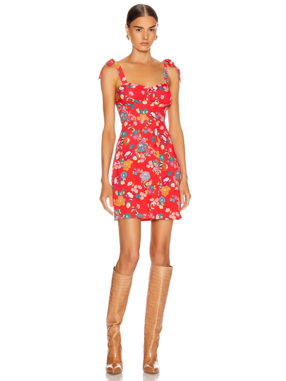Donna Mini Dress in Floral Red