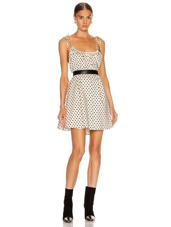 Dalila Mini Dress in Ivory & Black Polka Dots