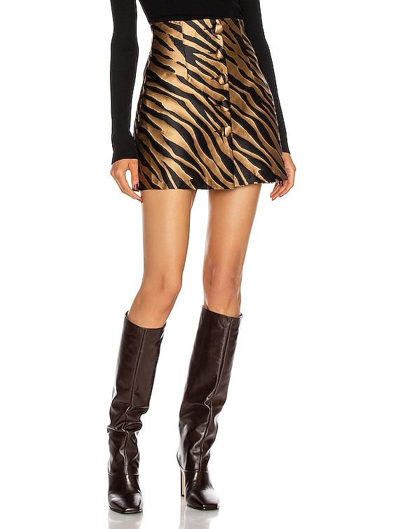 Erin Mini Skirt in Zebra Beige