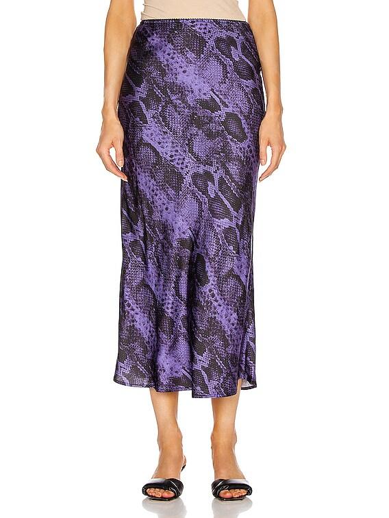 Bella Midi Skirt in Lilac Snake