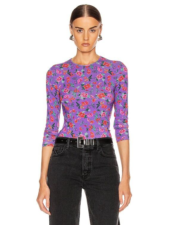 Cornelia Top in Floral Multi Lilac
